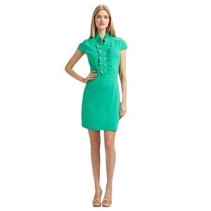 Lilly Pulitzer Jade Green Deb Ruffle Dress Size M